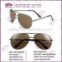Brown Fashion Stainless Sunglasses For Women
