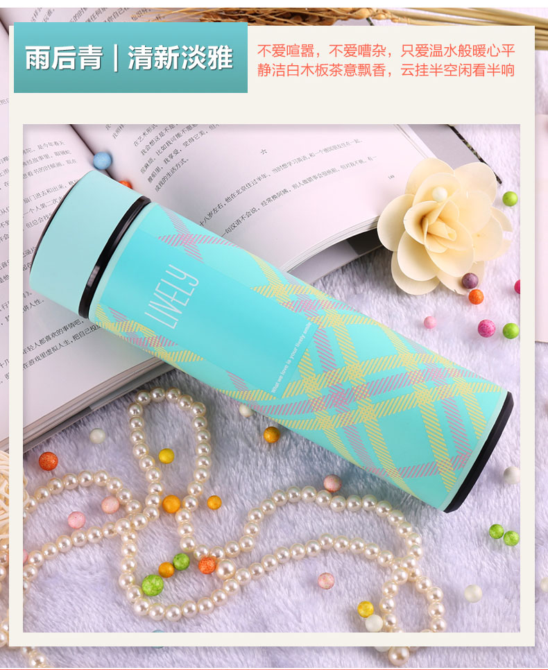 The new stainless steel vacuum keep-warm glass straight delicate business man woman gifts customized logo redbull drink