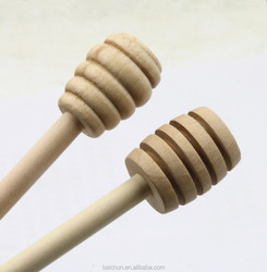 15 cm Food grade stock wooden honey spoon natural honey stir bar wholesale for health honey food