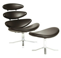 Famous design Corona lounge chair with ottoman Poul M. Volther