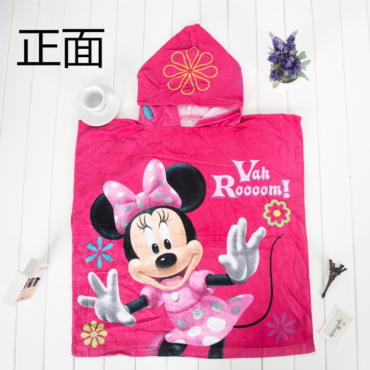 Animals Embroidery Microfiber Baby Hooded Towel hooded flannel shirt