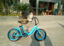 New 20*4.0inch fat tire folding stealth bomber electric bike