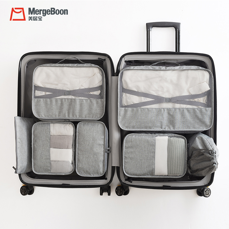 High quality <strong>travel</strong> packing cubes clothes organizer storage bag