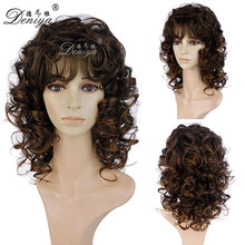 New fashion afro kinky curly hair synthetic wig for balck women
