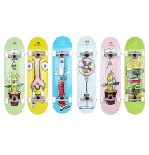 illustration new colorful life style canadian maple skateboard complete truck skateboard wholesale cheap price wood skate board