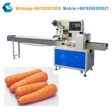 horizontal flow lettuce packing machine vegetable carrot packaging machine