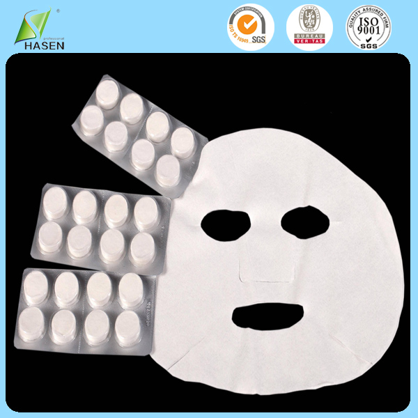 Gentle Magic Skin Care Product Cold Compressed Facial Mask Sheet