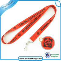 Custom keychain printed lanyard with swirl hook