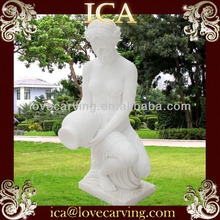 White marble nude famale sculpture