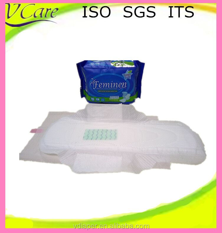 sanitary napkin with negative ion from sanitary napkin raw material
