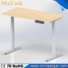 electric dual motors adjustable desk sit to standing up office desk with 3 segments Lifting column standing desk