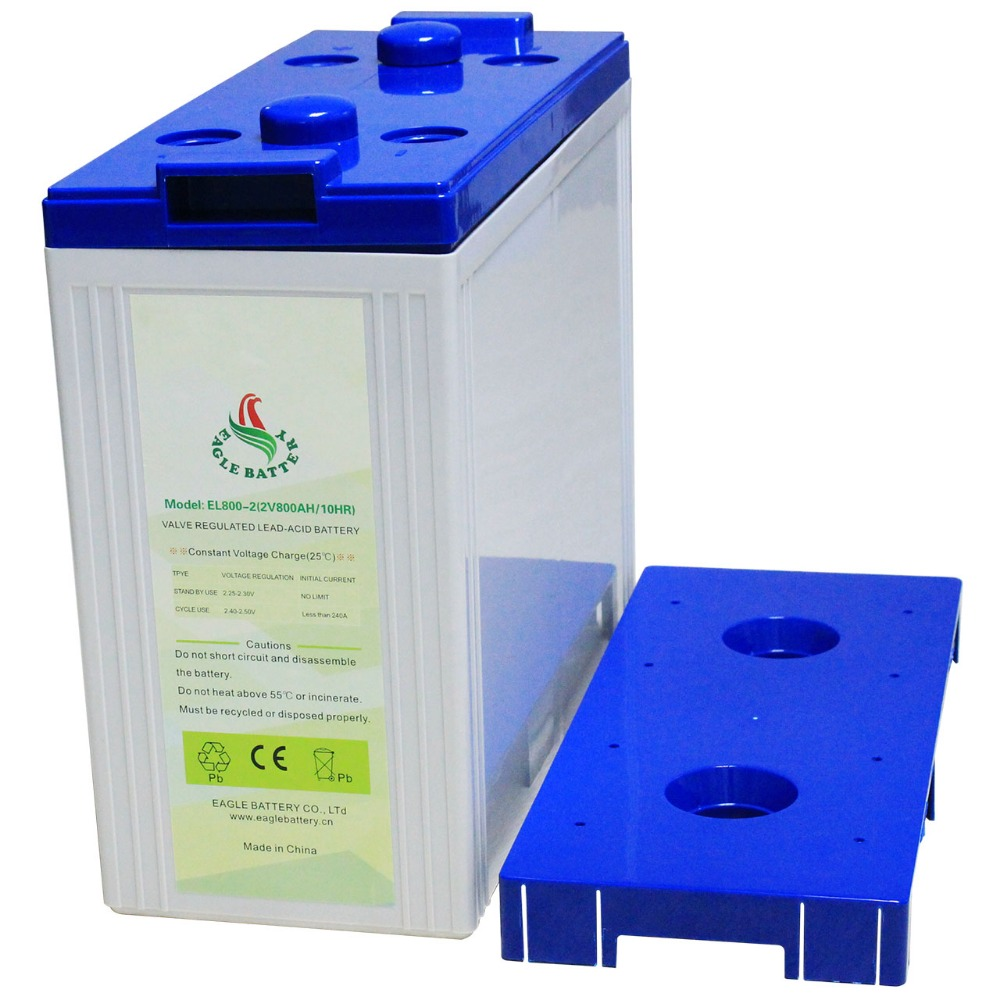 Long Life 2V 800Ah Rechargeable Sealed Lead acid Battery