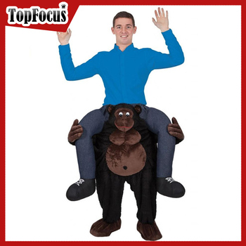 Latest Gorilla Mascot Carry Costume Adult Carry me Costume