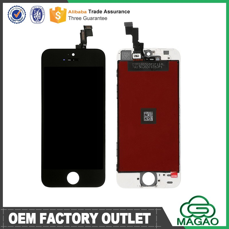 China Replacement LCD For iPhone 5S, For Apple Iphone 5S LCD Touch Screen Black Color