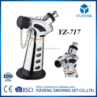 Refillable Fashional Jet Flame Butane Torch Cigarette Cigar Windproof Lighter YZ-717