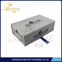 Black Fancy Paper Shirt Boxes Designs Cardboard Hamper Folding Rigid Gift Box with Flip Black Lids