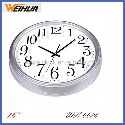 Plastic arch glass 16'' wall clock