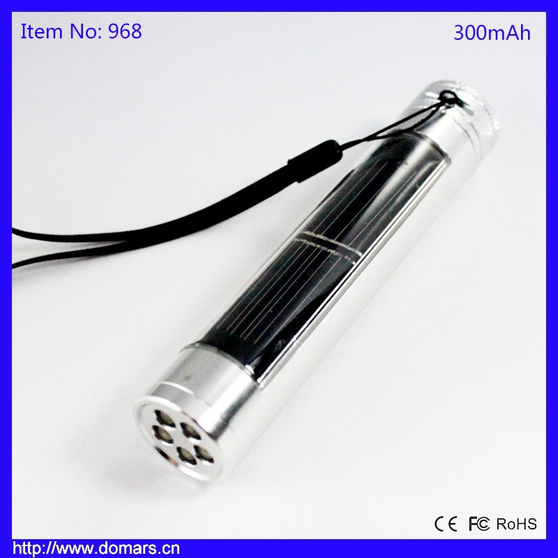 Domars RoSH 300mah Sloar Powered 0.3W Emergency LED Flashlight