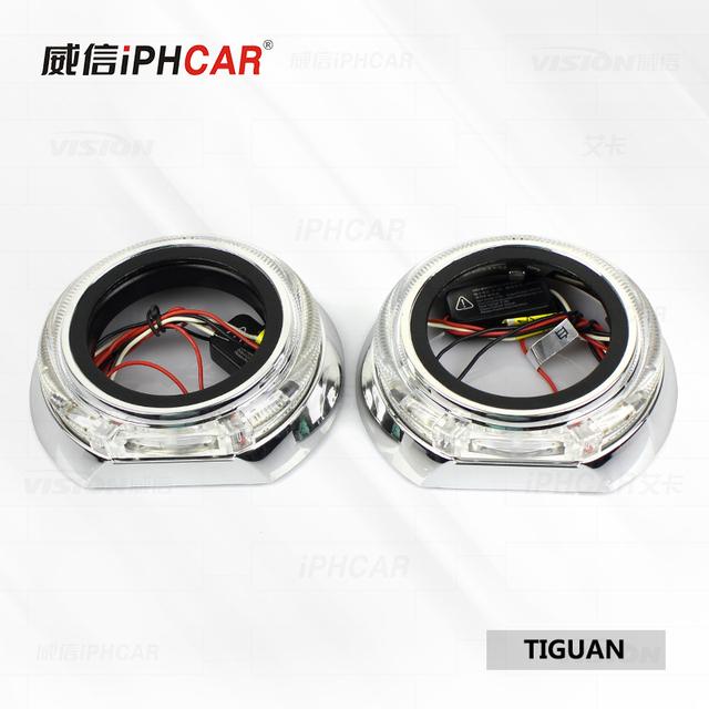 IPHCAR Fashionable Style Auto Headlamp Shroud LED Shroud with Angel Eye