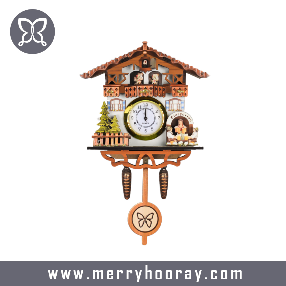 MDF wood antique black forest cuckoo clock grandfather cuckoo clock