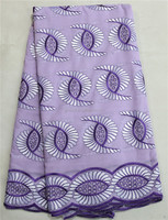 High Quality 2015 New Purple Swiss Dress Lace With Stones 100% Cotton Swiss Voile Lace Fabric In Switzerland