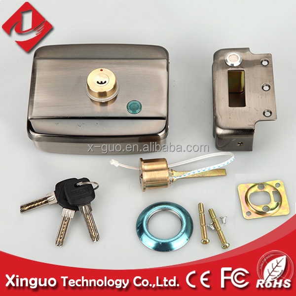 remote control electric door lock with swiping card for doors