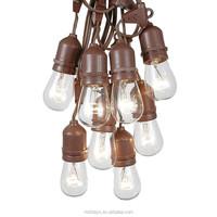 48 Foot E26 Commercial Edison Black Wire String Patio Light