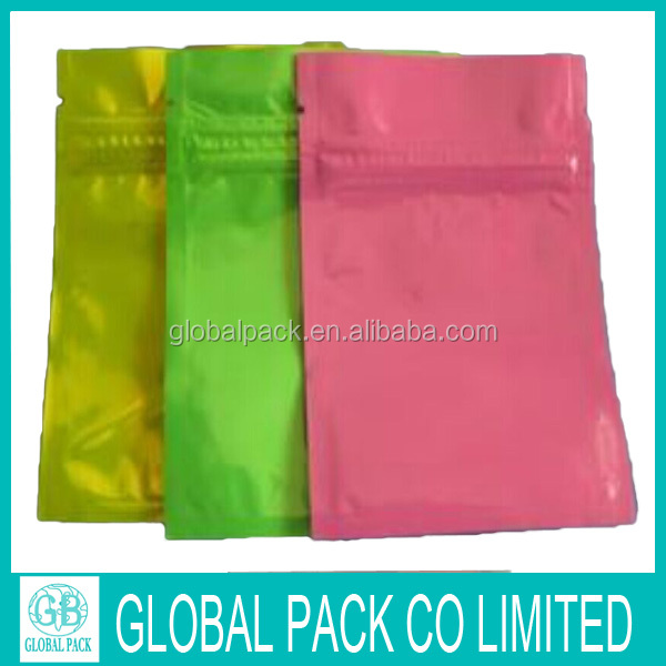 Hot selling good quality small size lovely ziplock packaging pouch bag