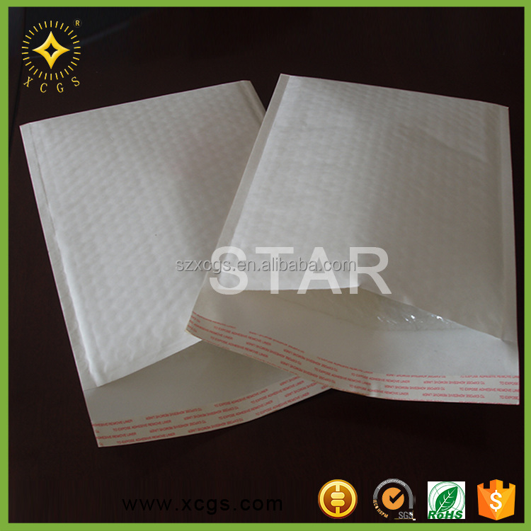 Gold/Yellow/Light Beige/White Brown Kraft Paper Cushioning Shockproof Air Bubble Mailers Factory