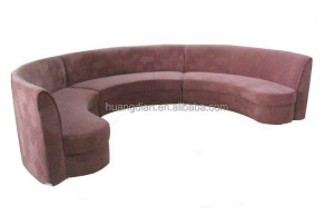 round wooden restaurant sofa booth hotel furniture BT4051