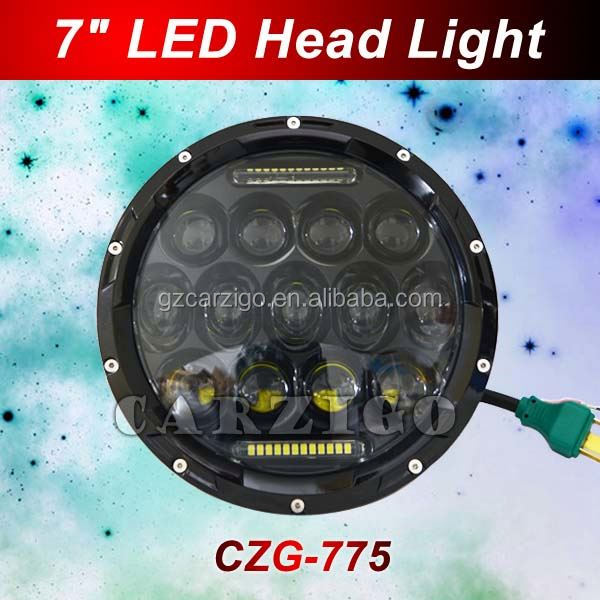 with hi/lo beam with FCC CE ROHS for off road,semi-truck,motor 6000K color temp 75W LED vehicle lamp