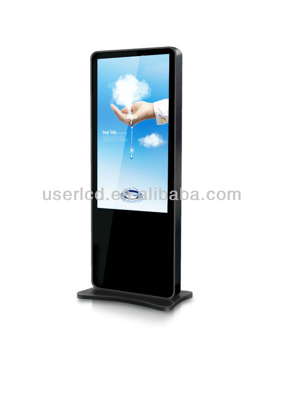 46 Inch High Definition 1080P floor standing lcd advertising player