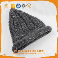 Hot selling knitted beanie hats with ear flaps