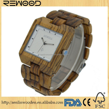 Top Selling Simulation Wooden Watch/Relojes Quartz Men Watch/Casual Wooden Color Leather Strap