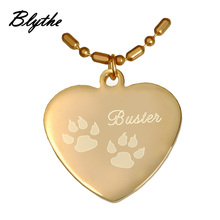 High quality cheap price custom logo heart shaped dog name tags
