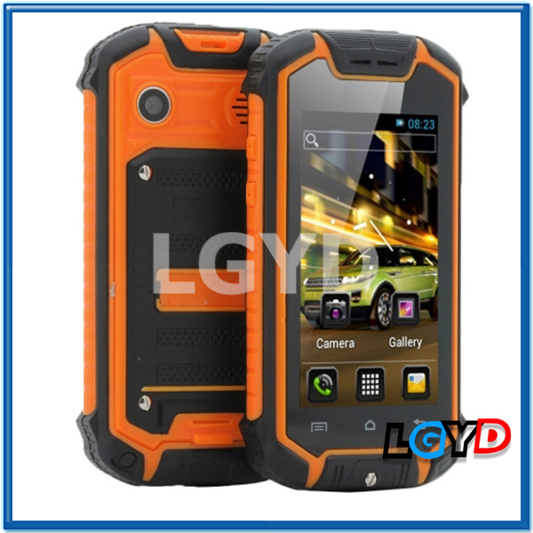 Z18 Orange, Waterproof, Dustproof, Shockproof Phone, GPS + AGPS, Android 4.0, MTK6575 1.0GHz Dual Core