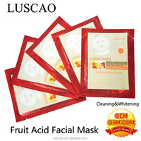 Skin care with fruit acid facial mask cleaning whitening