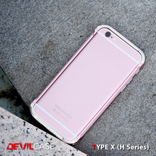 [DEVILCASE] TYPE X (H Series)--100% A6061 Tool-Free Aerospace Aluminium Alloy Material Mobile Phone Bumper Case for iPhone