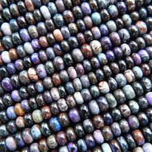 Natural South Africa Sugilite rondelle semi precious stone loose beads gemstone for jewelry making design
