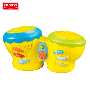 Zhorya yellow plastic kids toy hand drum