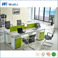 Waltz office furniture E0 grade MFC/MDF office desk workstation with screen, 4 person workstation