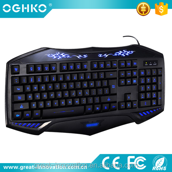 Brand New gaming Keyboard cheapest usb led Gaming Backlit Keyboard