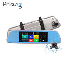 "Phisung V200 3G car camera recorder Android GPS Navigation RAM 1GB ROM 16GB WIFI Bluetooth 7.0""Touch 1080p manual car camera hd"