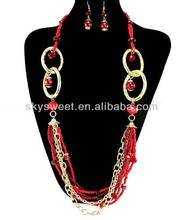 antique jewelry indian jewelry necklace set,red coral bead necklace set
