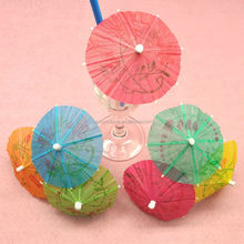 Luau Tropical Parasol Umbrella Hawaiian Party Food Cocktail Picks Wooden picks party decoration decoration