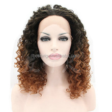africa market synthetic kinky curly lace front wig