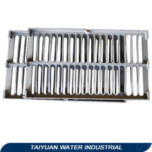Galvanized steel trench grating cover