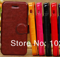 LUXURY HIGH QUALITY SMART LEATHER CASE COVER WITH FREE SHIPPING FOR IPHONE 5 5G