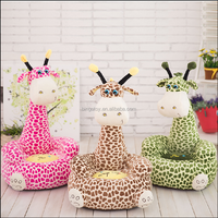 Plush deer shaped sofa animals deer China toy factory for living room