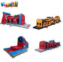 Giant adult indoor obstacle course equipment inflatable obstacle course